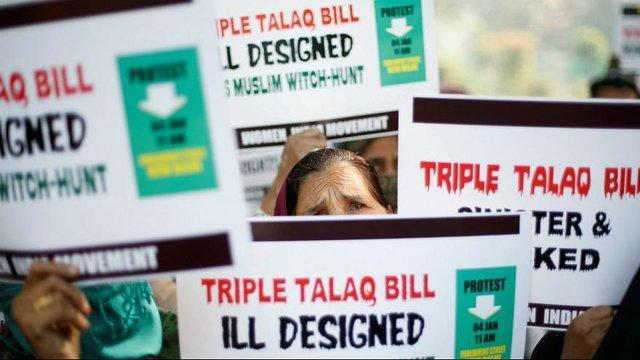 دولت هند سه طلاقه کردن زنان مسلمان را جرم گفت