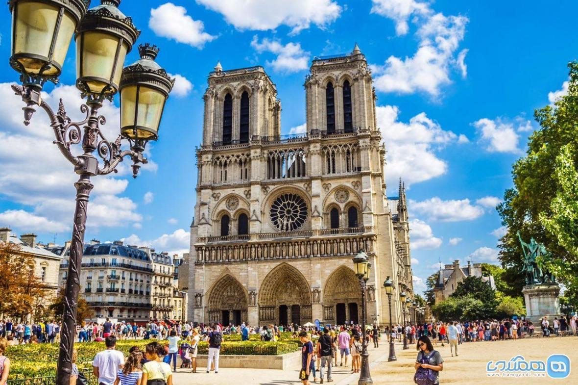کلیسای نوتردام در پاریس ، حقایق تاریخی قبل از آتش سوزی