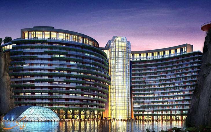 افتتاح اولین هتل زیرزمینی جهان در شانگهای چین