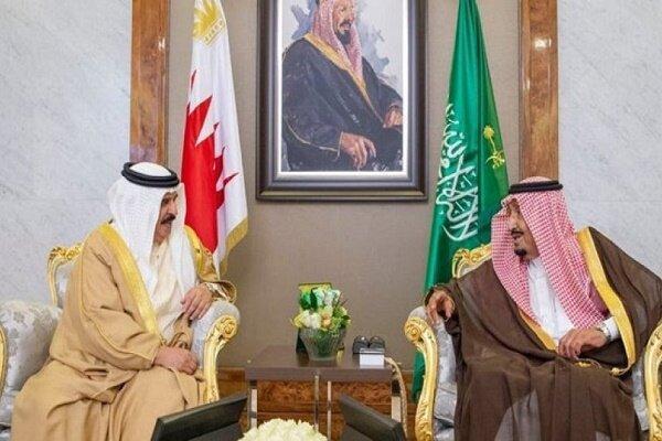 دیدار پادشاه بحرین با ملک سلمان در شهر جده