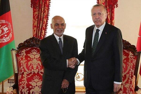 اشرف غنی با اردوغان در استانبول دیدار کرد
