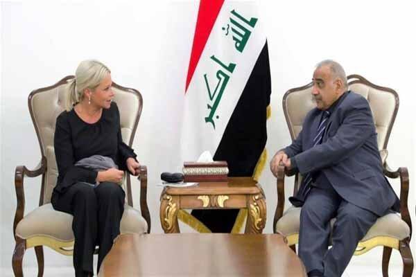 رئیس هیئت نمایندگی سازمان ملل متحد در عراق با عبدالمهدی ملاقات کرد