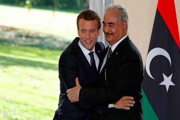ماکرون به دلیل حمایت از احمقی مانند حفتر در لیبی باخت