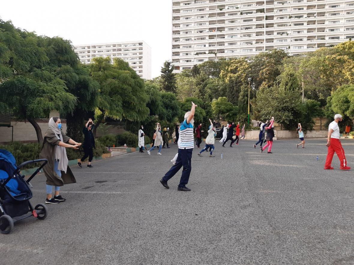 خبرنگاران آماده باش ورزشی در باغ موزه دفاع مقدس پایتخت برگزار گردید