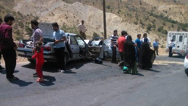 2 کشته و 9 مصدوم طی دو تصادف در محور یاسوج-شیراز