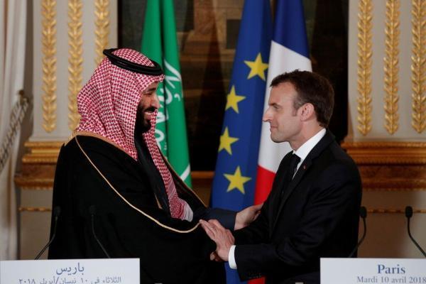 خبرنگاران رییس جمهوری فرانسه و ولیعهد سعودی درباره لبنان گفت و گو کردند