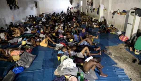 شرایط نامناسب اردوگاه محل نگهداری بچه ها مهاجر در تگزاس