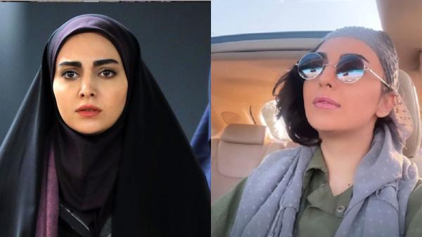 فیلم خانم بازیگر چادری بچه مهندس بدون روسری ! ، مهشید جوادی کیست؟!